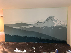Rainier on Living Room Wall