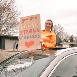 Cheering on one of our amazing fearless fighters!