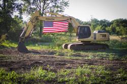 Patriotic Excavator