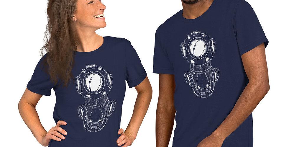 Diver's Helmet Short-Sleeve Unisex T-Shirt