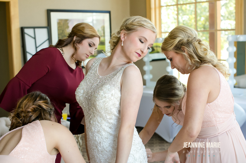 Sarah + Josh, Hazeltine Wedding, Jeannin