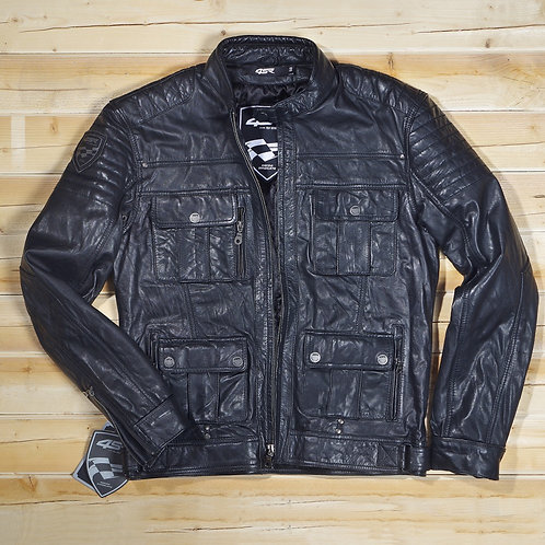 Veste cuir GANGSTER BLACK 4SR