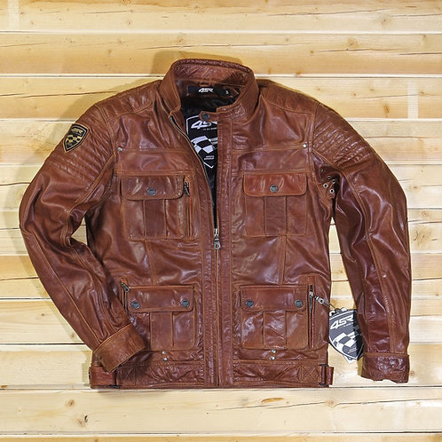 Veste cuir GANGSTER BROWN 4SR