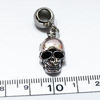 Silver skull Dreadlock Charm Bead