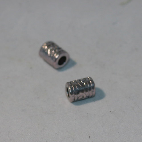 Wave Patterned Tiny Tube Dreadlock Beads