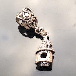 Silver Fairy Castle Dreadlock Charm bead