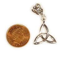 Small celtic triangle / triquerta Dreadlock Charm Bead