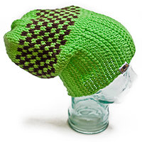 Bruised Lime Baggy Dreadlock Hat