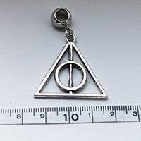 Silver Deathly Hallows / Harry Potter Dreadlock Charm Bead