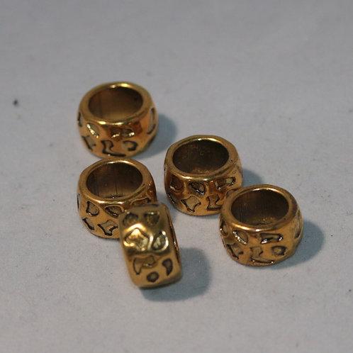Spots barrel metal dreadlock bead