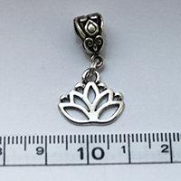 Silver Lotus Flower Dreadlock Charm Bead
