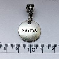 Silver Karma disc Dreadlock Charm Bead