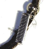 Silver Comb Dreadlock Bead