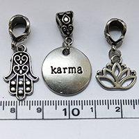 Silver KARMA dreadlock Bead Set