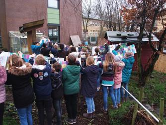 Landart im Schulgarten