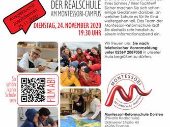 Informationsabend der Realschule am Montessori-Campus.
