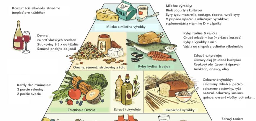Zdravá potravinová pyramída na chladničku 🍏🥕🥑🍴