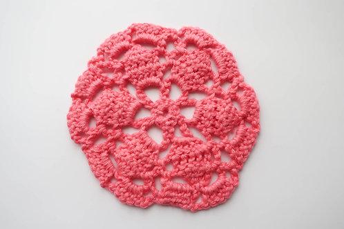 Mini Pink Crochet Rug