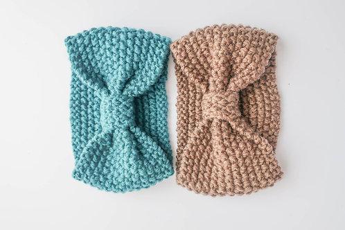 Chunky Hand Knit Hairband pk2