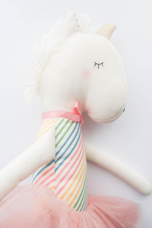 Alimrose Yvette Unicorn Rainbow Doll