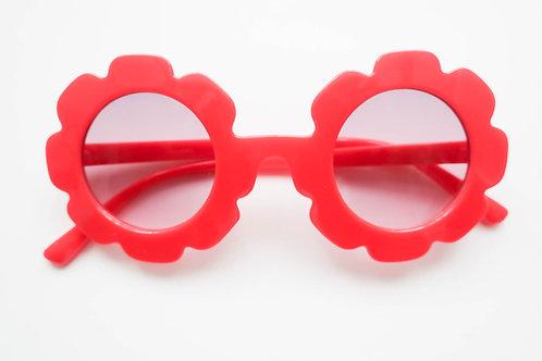 Cherry Red Flower Sunglasses
