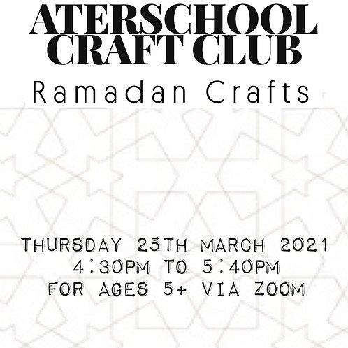 Afterschool Craft Club - Ramadan Crafts