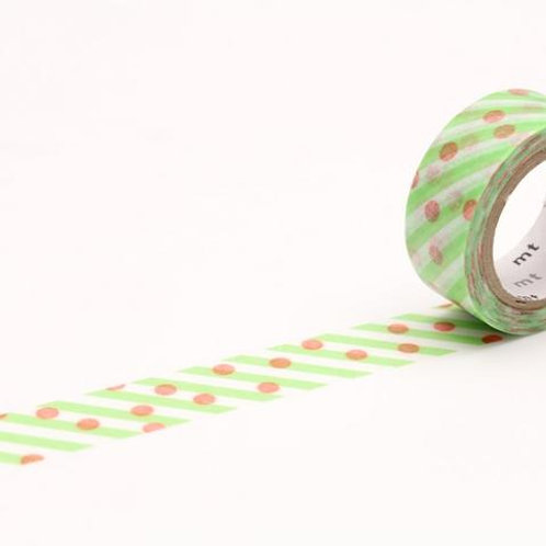 MT Fab Dot X Stripe double-sided printed washi tape