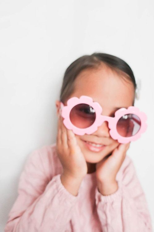 Pastel Pink Flower Sunglasses