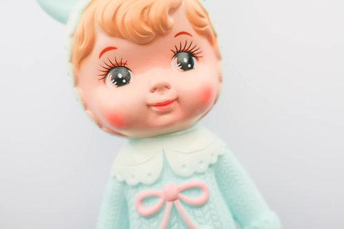 Turquoise Woodland Doll