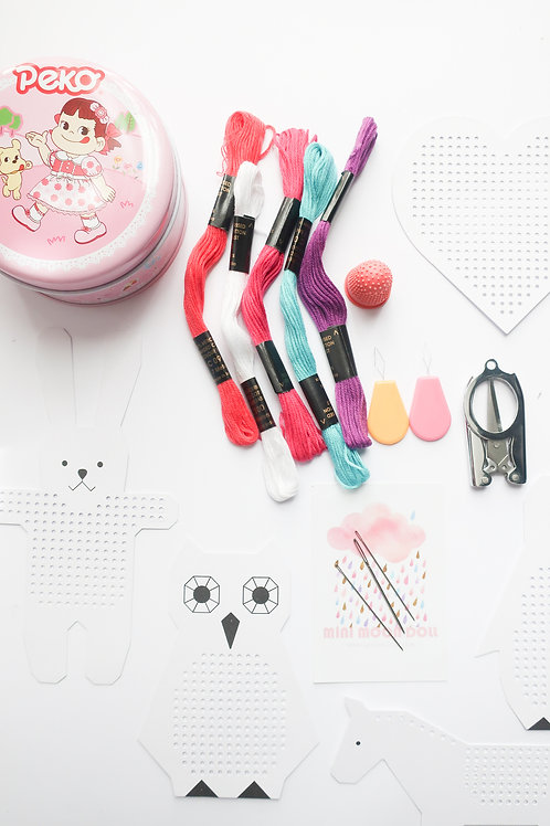Embroidery Pack Pink Peko Tin