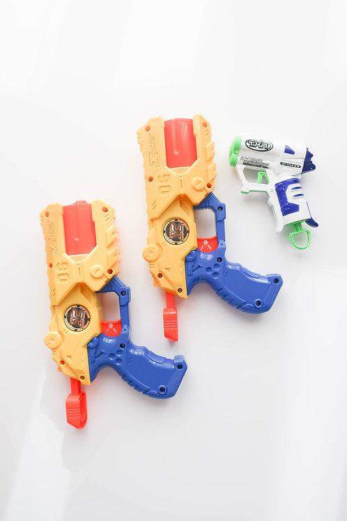 Three Plastic Play Guns
