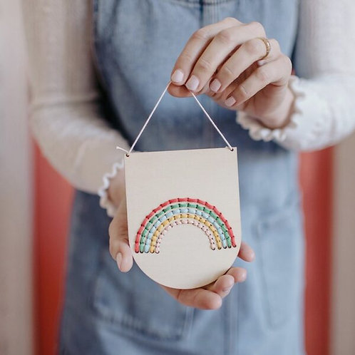 Rainbow Banner Embroidery Kit