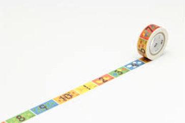 MT Numbers Washi Tape