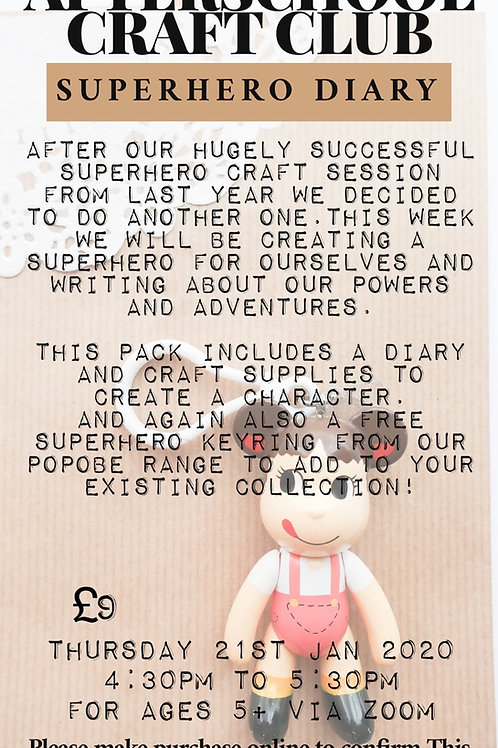 Afterschool Craft Club Superhero Diary