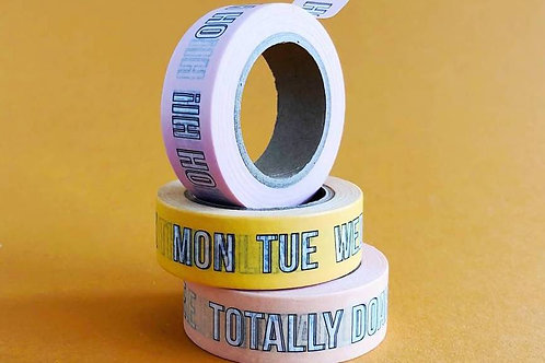 Mama's Washi Tape - Mon Tues Wed Blink!