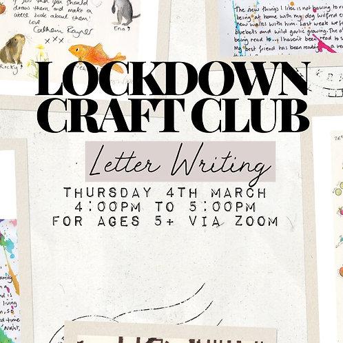 Lockdown Craft Club - Letter Writing