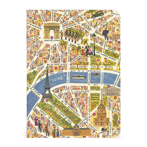 Notebook Vintage Paris Map