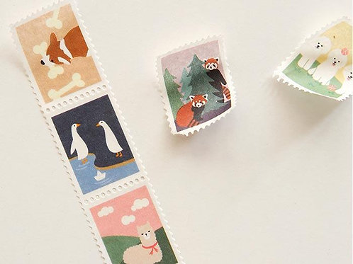 Animal Washi Stamp Masking Tape