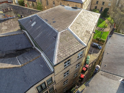 Drone aerial roof inspection