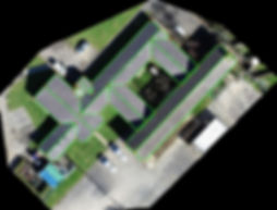 Drone measured roof survey
