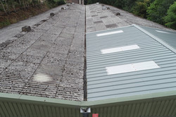 Drone aerial fragile roof inspection