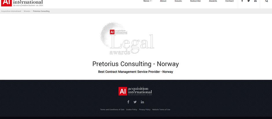 Legal Awards 2020 - Acquisition International