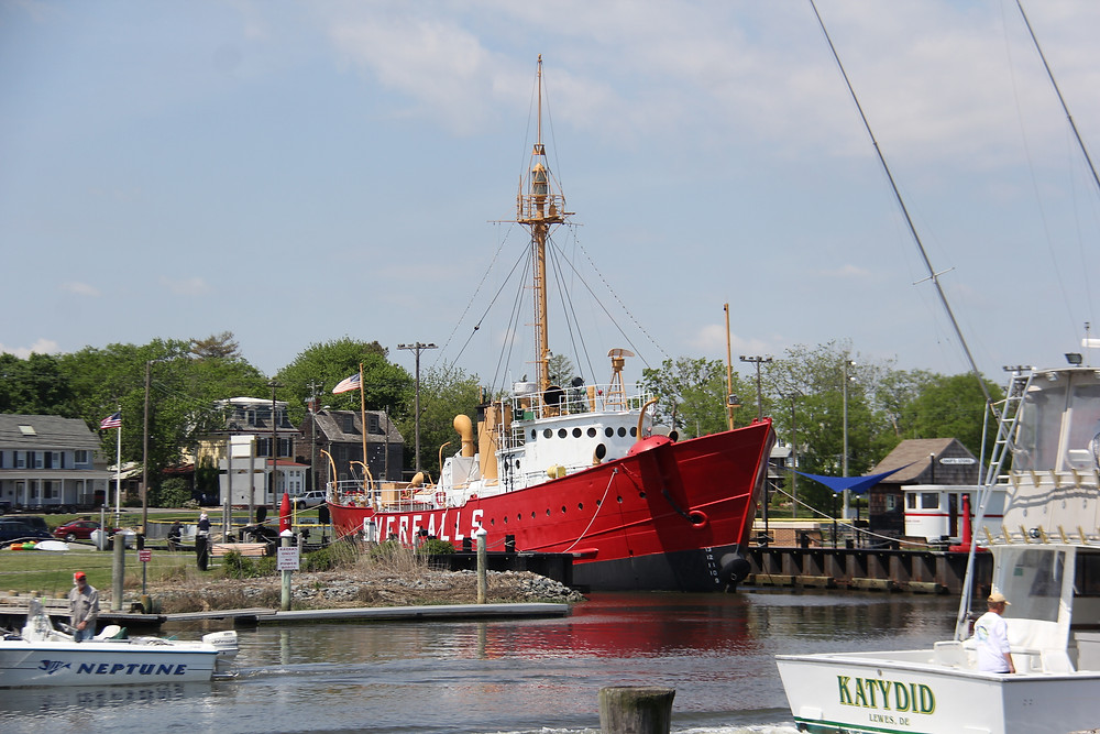 The Lightship Overfalls, located in Lewes DE, is one of only 17 remaining lightships out of a total of 179 built from 1820 to 1952.