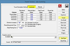 controls estimating travel calculation