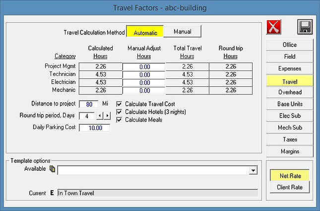 controls contract travel costs