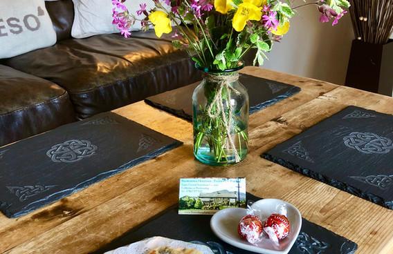 welsh cakes & seasonal flowers welcome