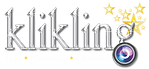 klikling logo-on black or coloured backg