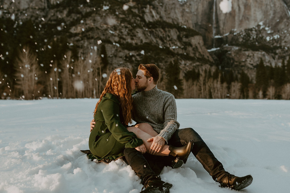 Snowy Engagement in Yosemite National Park. Swinging bridge Engagement. Yosemite Valley Engagement Photos. yosemite couple outfit Inspiration Yosemite Wedding Photographer Yosemite Elopement Photographer Engagement In Yosemite Golden hour photos in Yosemite Golden hour Engagement Photos Yosemite Photographer Yosemite Engagement Photographer Yosemite Wedding Photographer Yosemite in the winter Yosemite snow photos Snowy engagement photos Yosemite winter engagement photos hardenwesley