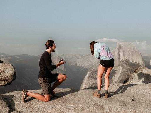 Glacier Point Proposal Yosemite CA