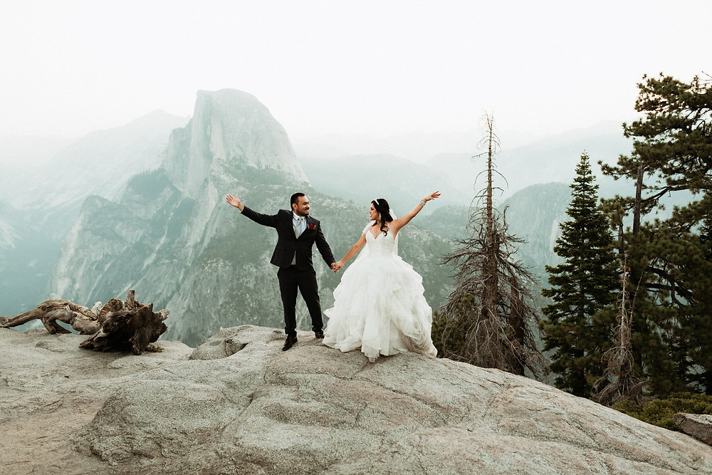 Glacier Point Sunrise Elopement